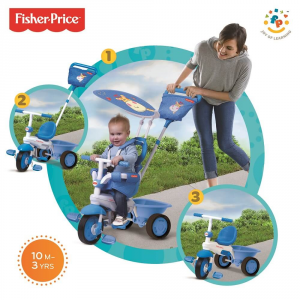 Triciclo Mod. Elitè Azzurro Fisher-Price