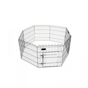 Recinto modulare per cuccioli, cani, gatti, roditori, otto pannelli cm. 61 x 76 h richiudibile