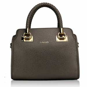 Bauletto Liu Jo ANNA N67084 E0087 PALE BROWN METAL