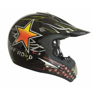 CASCO MOTO CROSS BHR STAR BLACK