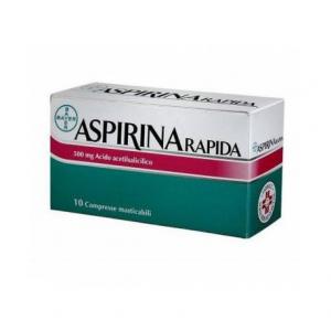 ASPIRINA RAPIDA 500 MG ACIDO ACETILSALICILICO 10 COMPRESSE MASTICABILI