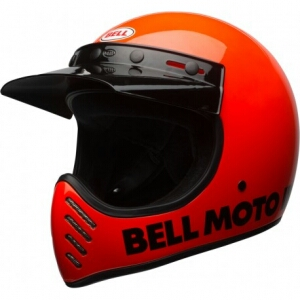BELL MOTO 3 CLASSIC FLO ORANGE Casco Integrale - Arancione