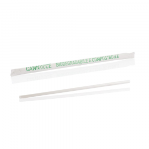 Cannucce biodegradabili imbustate 5mm