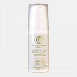 INTENSIVE SCALP LOTION with active ingredients extracted from organic cultivation