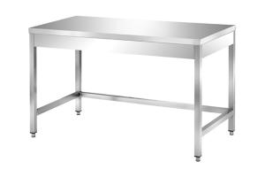 Tavolo in acciaio inox 4 gambe