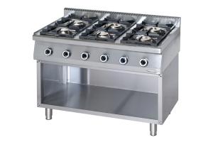 Cucine a gas in acciaio inox con vano aperto
