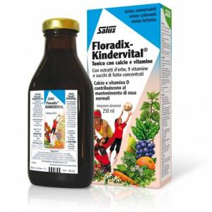 FLORADIX KINDERVITAL per sostenere il sistema immunitario di bambini e ragazzi, ricco di vitamine C, A e D