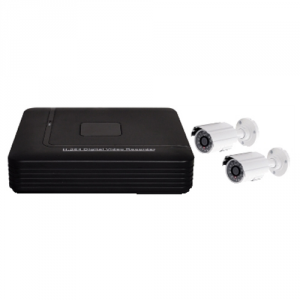 Kit Con Hvr 4 Ch Ahd-Nh & Digitali Ip + 2 Telecamere Alta Definizione Ahd-M, Per Videosorveglianza, Cloud P2p Con Internet One Click E Compatibilita' Onvif