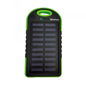 Power Bank a energia solare 3000MAH Verde iSnatch