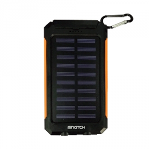 Power Bank a energia solare 8000MAH G8S Arancione iSnatch