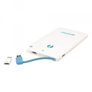 Power Bank 2500MAH G2.5 con adattatore Lighning e cavetto iSnatch