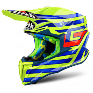 CASCO MOTO CROSS AIROH TWIST 2018 CAIROLI QATAR YELLOW GLOSS TWCQ31