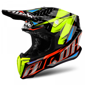 CASCO MOTO CROSS AIROH TWIST 2018 IRON ORANGE GLOSS TWIR32