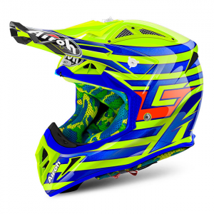 CASCO MOTO CROSS AIROH AVIATOR 2018 CAIROLI QATAR YELLOW GLOSS AV22CQ31