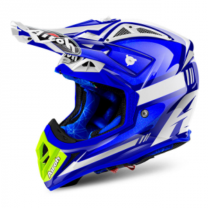 CASCO MOTO CROSS AIROH AVIATOR 2018 CAIROLI OTTOBIANO BLUE GLOSS AV22CO18