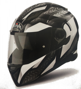 CASCO MOTO AIROH MOVEMENT S 2018 STEEL WHITE GLOSS MVSST38