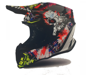 CASCO MOTO CROSS AIROH TWIST 2018 CRAZY BLACK GLOSS TWCR56