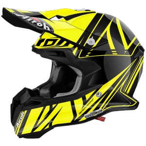 CASCO MOTO CROSS AIROH TERMINATOR 2.1 CUT YELLOW GLOSS
