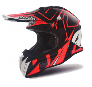 CASCO MOTO CROSS AIROH TERMINATOR 2018 SHOCK RED GLOSS TOVSH55