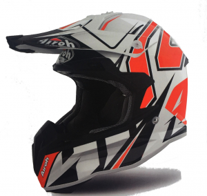 CASCO MOTO CROSS AIROH TERMINATOR 2018 SHOCK ORANGE GLOSS TOVSH32