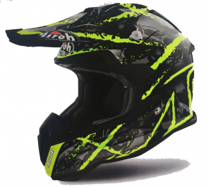 CASCO MOTO CROSS AIROH TERMINATOR 2018 CARNAGE YELLOW GLOSS TOVCA31
