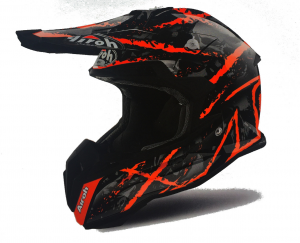 CASCO MOTO CROSS AIROH TERMINATOR 2018 CARNAGE ORANGE GLOSS TOVCA32