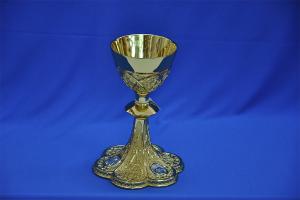 Calice gotico in ottone coppa in Argento