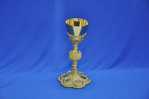 Calice gotico intarsiato Coppa in Argento