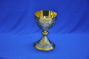 Calice bicolore con Coppa in Argento