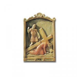 Via Crucis in legno intagliato 15 stazioni