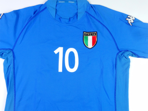 2002 Italia Maglia Home #10 Totti  XXL (Top)