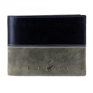 Man wallet Beverly Hills Polo Club  OKLAHOMA BH-262 NERO-ANTRACITE