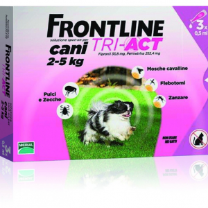 FRONTLINE TRI-ACT SPOT-ON CANI 2 - 5 KG MERIAL  conf.3PIP