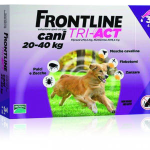 FRONTLINE TRI-ACT SPOT-ON CANI 20 - 40 KG MERIAL  conf.3PIP