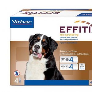 EFFITIX spot-on CANE 40-60 KG VIRBAC  conf.4PIP
