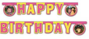 Masha e Orso festone Happy Birthday 2 metri