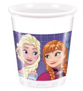 Disney Frozen Snowflakes bicchieri plastica festa 200ml-2-2