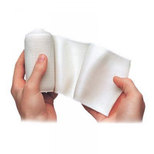 Gel e roll elastic bandaging with oleogel