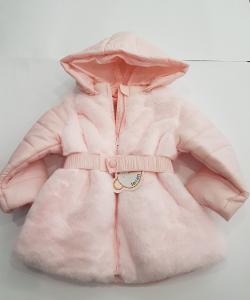 Piumino rosa con pelliccia