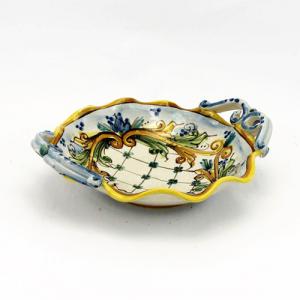 Ciotola in ceramica smerlata cm 25 Ceramiche Caltagirone
