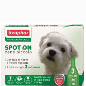 SPOT ON CANE BEAPHAR peso inferiore 15KG 3PIP