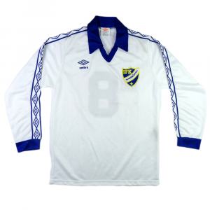 1982-83 IFK Norrköping Maglia Home Match Worn #8  vs Roma