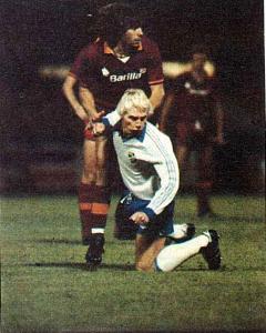 1982-83 IFK Norrköping Maglia Home Match Worn #8  vs Roma