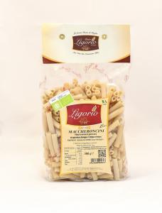 Maccheroncini Rigati BIO  -Pasta Trafilata in Bronzo-
