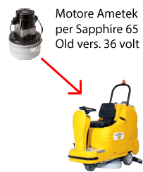 Sapphire 65 36 volt (OLD) Vacuum motors AMETEK for scrubber dryer Adiatek