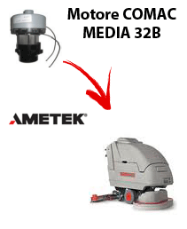 MEDIA 32B Vacuum motors AMETEK for scrubber dryer Comac
