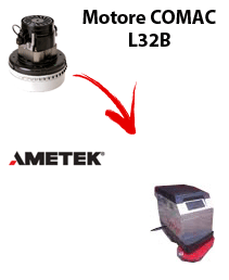 L 32B  Vacuum motors AMETEK for scrubber dryer Comac
