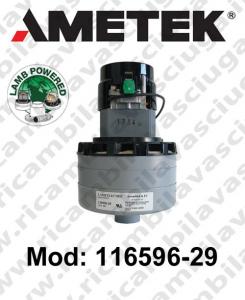 Vacuum motor 116596-29 LAMB AMETEK for scrubber dryer