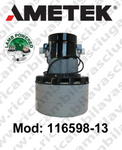 Vacuum motor 116598-13 AMETEK for scrubber dryer