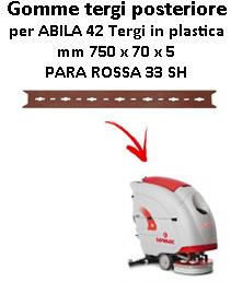 ABILA 42 Back Squeegee rubber Comac Plastic Squeegee